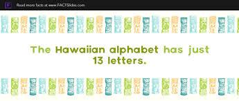 hawaiian alphabet has just 13 letters
