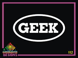 Geek Oval Vinyl Decal