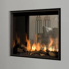 double sided gas fireplace