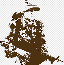 Soldier Army Wall Decal Military Sticker Retro Brown Soldiers People Decorative Png Pngegg