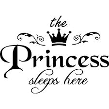 Amazon Com Princess Sleeps Here Wall Decal Removable Wall Sticker For Home Deco 15 7 X9 6 Home Improvement