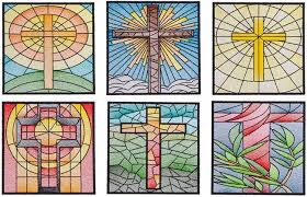 qih stained glass quilt squares