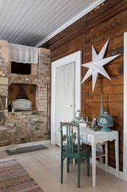 console table below white star on wall