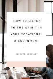 spirit in your vocational discernment