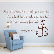 Rocky Balboa Famous Boxing Quote Movie Wall Sticker Kids Room Bedroom Boxing Sport Inspirational Quote Wall Decal Boy Room Decoration Wish