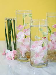 submerging flowers in water