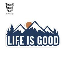 Earlfamily 13cm X 6 5cm Life Is Good Mountain Sunset Outdoor Hiking Vinyl Sticker Car Truck Window Decal Reflective Car Styling Shop The Nation