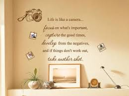 Xx Large Life Is Like A Camera Photo Family Art Wall Quotes Wall Stickers Wall Decals Black Sheenagalicia112