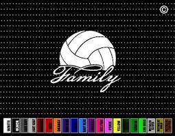 Volleyball Family 3 Car Sticker Window Vinyl Decal Dad Mom Coach High School Ebay
