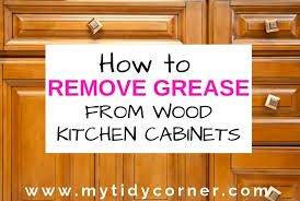 how remove grease from wood kitchen