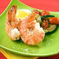 grilled lemon and garlic tiger prawns
