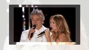 THE PLAYER - Celine Dion/Andrea Bocelli - YouTube