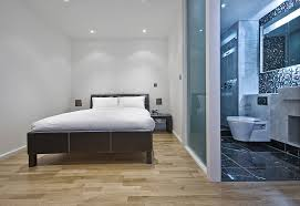 glass bathroom walls for master suite