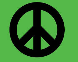 Peace Sign Decal Etsy