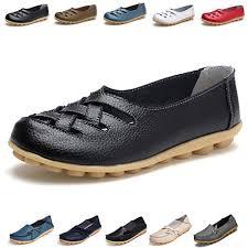 hishoes womens soft leather mocassins