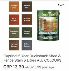 5l Cuprinol Fence Paint 8 Or 2 For 15 In Se12 London Borough Of Lewisham For 8 00 For Sale Shpock