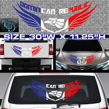 1x Dominican Republic Flag Car Decal 5875 Ebay