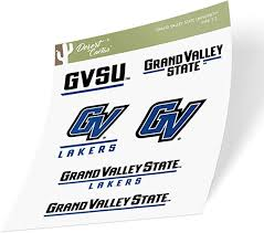 Amazon Com Grand Valley State University Gvsu Lakers Ncaa Sticker Vinyl Decal Laptop Water Bottle Car Scrapbook Type 2 Sheet Arts Crafts Sewing