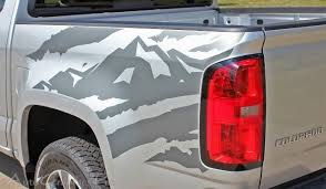 Product Antero Truck Bed Mountain Chevy Colorado Vinyl Graphic Decals Stripe 2015 2016