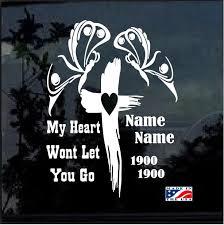 Butterfly Cross In Loving Memory Window Decal Sticker Custom Sticker Shop