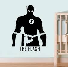 Dc Comics Wall Vinyl Decal Flash Poster Wall Art Home Interior Decor Child Room Design Livingroom Vinyl Sticker Dc10 22x29 Amazon Com