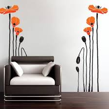 Giant Poppy Wall Stickers 2 Colors Wallstickershop Com Wall Decals Poppy Wall Art Wall