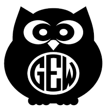 Owl Monogram Initial Letter Vinyl Decal Sticker Home Wall Cup Decor Choice 1 99 Picclick