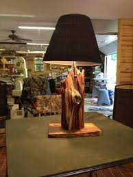 I Made This Lamp Out Of An Old Cedar Fence Post And A Piece Of Walnut For A Base It Is One Of My Favorites Cedar Fence Posts Cedar Fence Fence