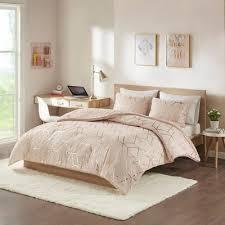 Addie King 3pc Metallic Print Reversible Comforter Set Blush : Target