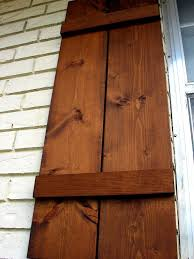 how to attach wooden shutters to brick