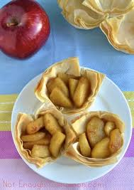easy caramelized apple phyllo cups