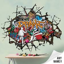 Personalised Graffiti Abstract Wall Decal Sticker Etsy