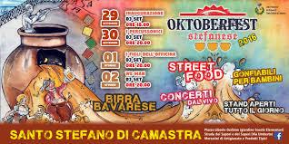 Oktoberfest Stefanese dal 29 Settembre 2016 al 2 Ottobre 2016 – Comune di  Santo Stefano di Camastra