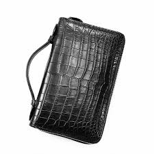 clutch bag large crocodile wallet