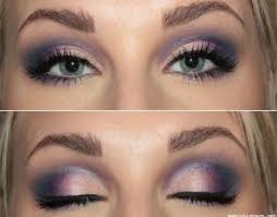 blue eyes and blonde hair cat eye makeup