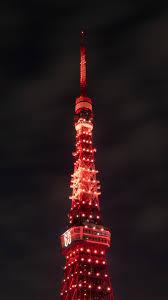 خلفية برج ايفل المضي باللون الاحمر بدقة عالية Hd