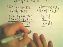 solving a system of equations involving