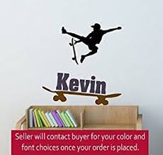 Buy Boys Room Skateboarder Sticker Teen Boys Personalized Wall Decal Childs Room Name Decal Kids Bedroom Decor Skateboard 28 X 29 Inches In Cheap Price On Alibaba Com