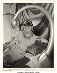"Claudette Colbert in ""Cleopatra"" (Paramount, 1934). Portrait (8"" X 