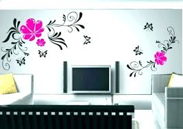 stencil designs for walls living room