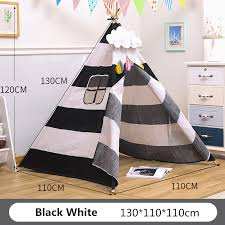 Teepee Tent Play House Cotton Canvas Children S Tent Kids Game Room Girl Wigwam India Triangle Tent Room Decor Photography Props Aliexpress Com Imall Com