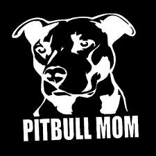 Amazon Com Pitbull Mom Dog Car Vehicle Body Window Reflective Decals Easy To Install Sticker Decoration White Baby