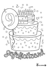 Kleurplaat Verjaardag Meisje 9 Check More At Https Olivinum Com