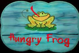 Frog Mug Rug Embroidered Frog Table Mat Soup Mat Coffee Or Etsy