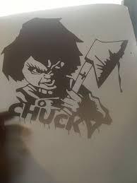 7 By 7 Chucky Window Decal Sticker Horror Movie