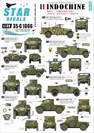 Star Decals 35 C1006 1 35 Indochine 1 Armoured Cars White Scout Humber Sc Panhard 178
