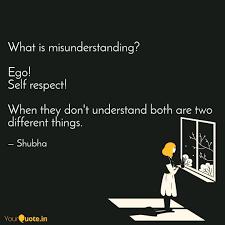 what is misunderstanding quotes writings by shubha jain