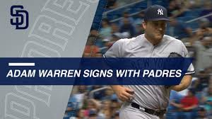 Adam Warren signs with the Padres - YouTube