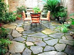slate patio backyard brickwork