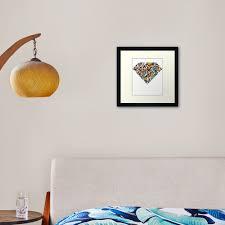 Prismatic Diamond Framed Art Print By Murphymurphy Redbubble